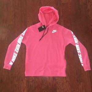 Women raspberry nike hoodie